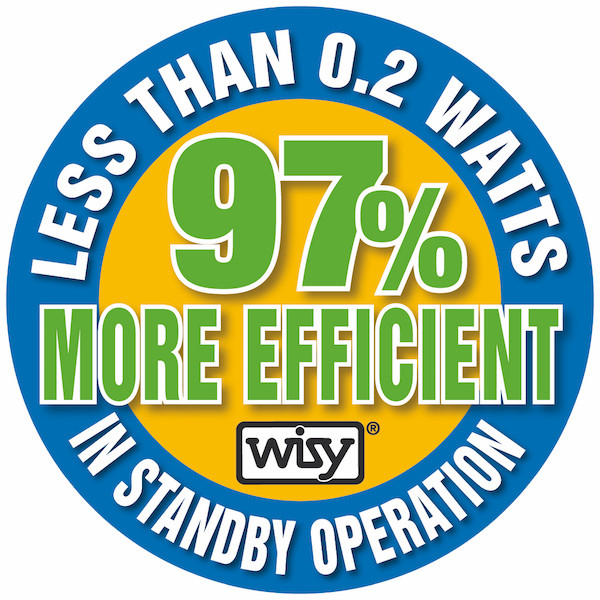 WISY pump controller, 97% more efficient in standby