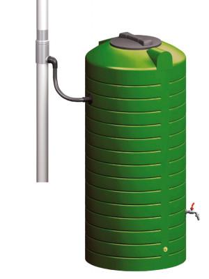 Regenwassernutzung Komplettanlage mit Fallrohrfilter