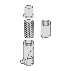 Filtersammler Einzelteile Zeichnung