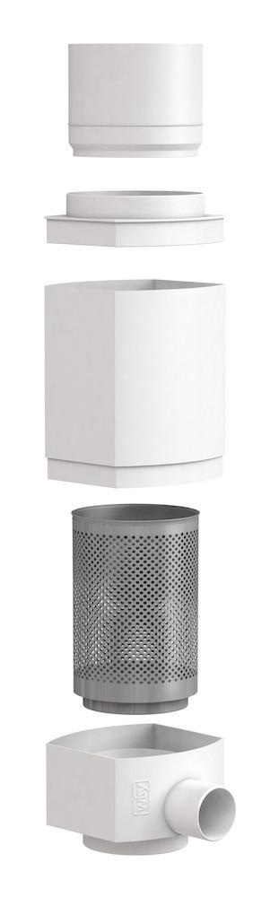 WISY RainCatcher RS, downpipe filter for rainwater, parts