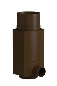 WISY RainCatcher RS, downpipe filter for rainwater, brown