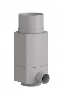 WISY RainCatcher RS, downpipe filter for rainwater, grey