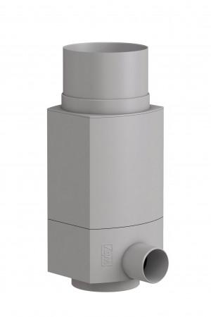 Fallrohr Regensammler RS, Fallrohrfilter für Regenwasser, grau