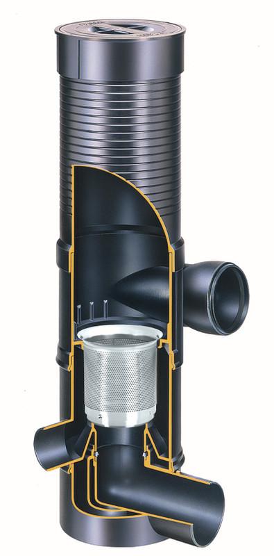 Innenansicht des WFF 150 mit Verlängerungsrohr