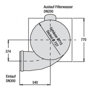 Filter Maßzeichnung