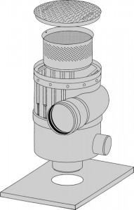 Industriewasserfilter Zeichnung