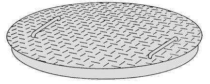 Rutschhemmender Stahldeckel