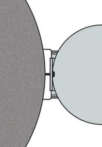 Wandkonsole für runde Beton-Regenspeicher in der Draufsicht