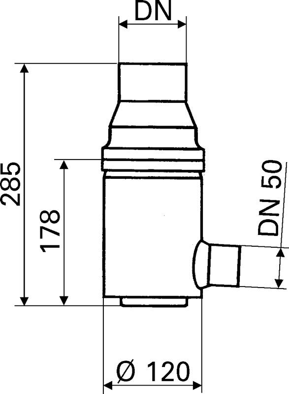 Fallrohrfilter zeichnung