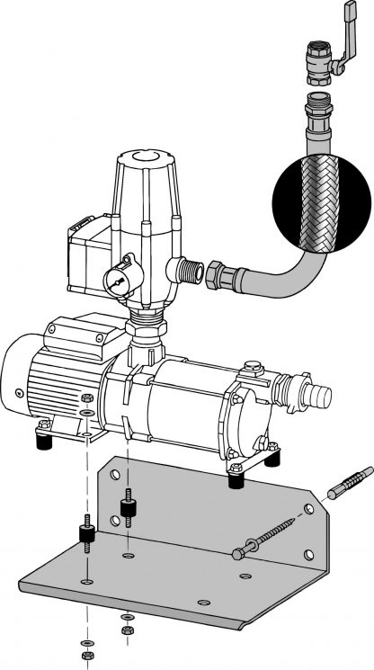 Saugpumpe mit Auflagekonsole