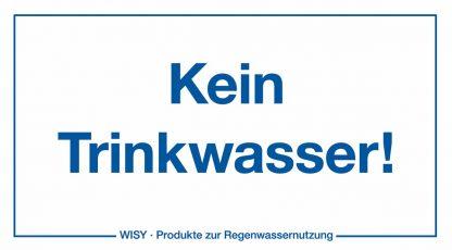 Etikett Kein Trinkwasser