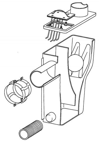 Zeichnung der Multisiphon Einzelteile