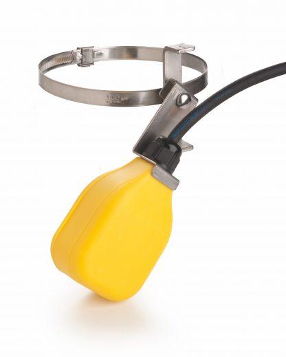 Gelber Schwimmerschalter für Nachspeisung