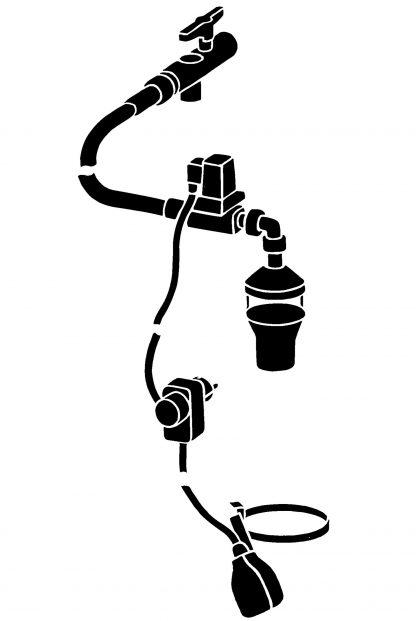 Trinkwasser Nachspeiseset Zeichnung