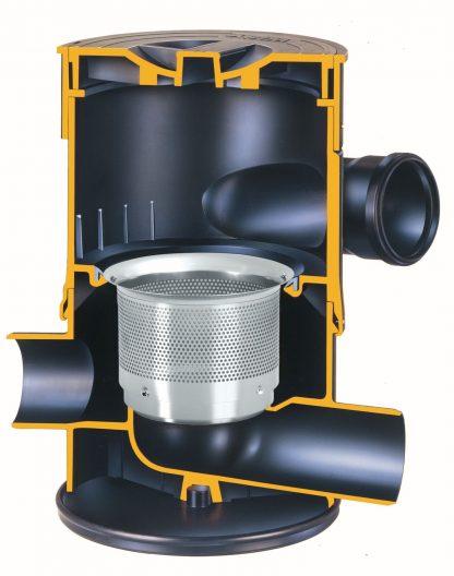 WFF 100 Regenwasserfilter Schnittbild