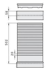 Maße Verlängerungsrohr Wirbel-Feinfilter