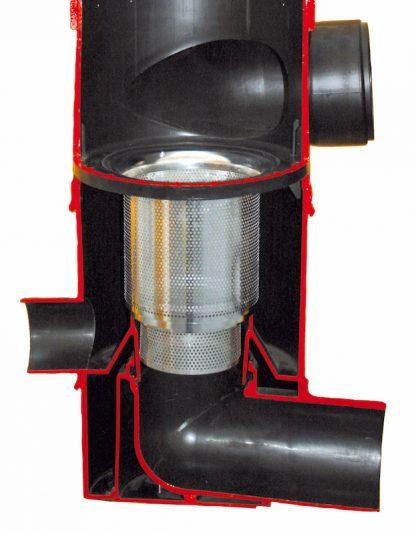 Versickerungssieb eingebaut in WFF 150